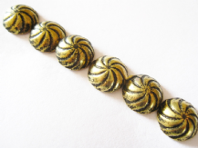 100 ASTER SWIRL UPHOLSTERY NAILS BRASS FURNITURE STUDS